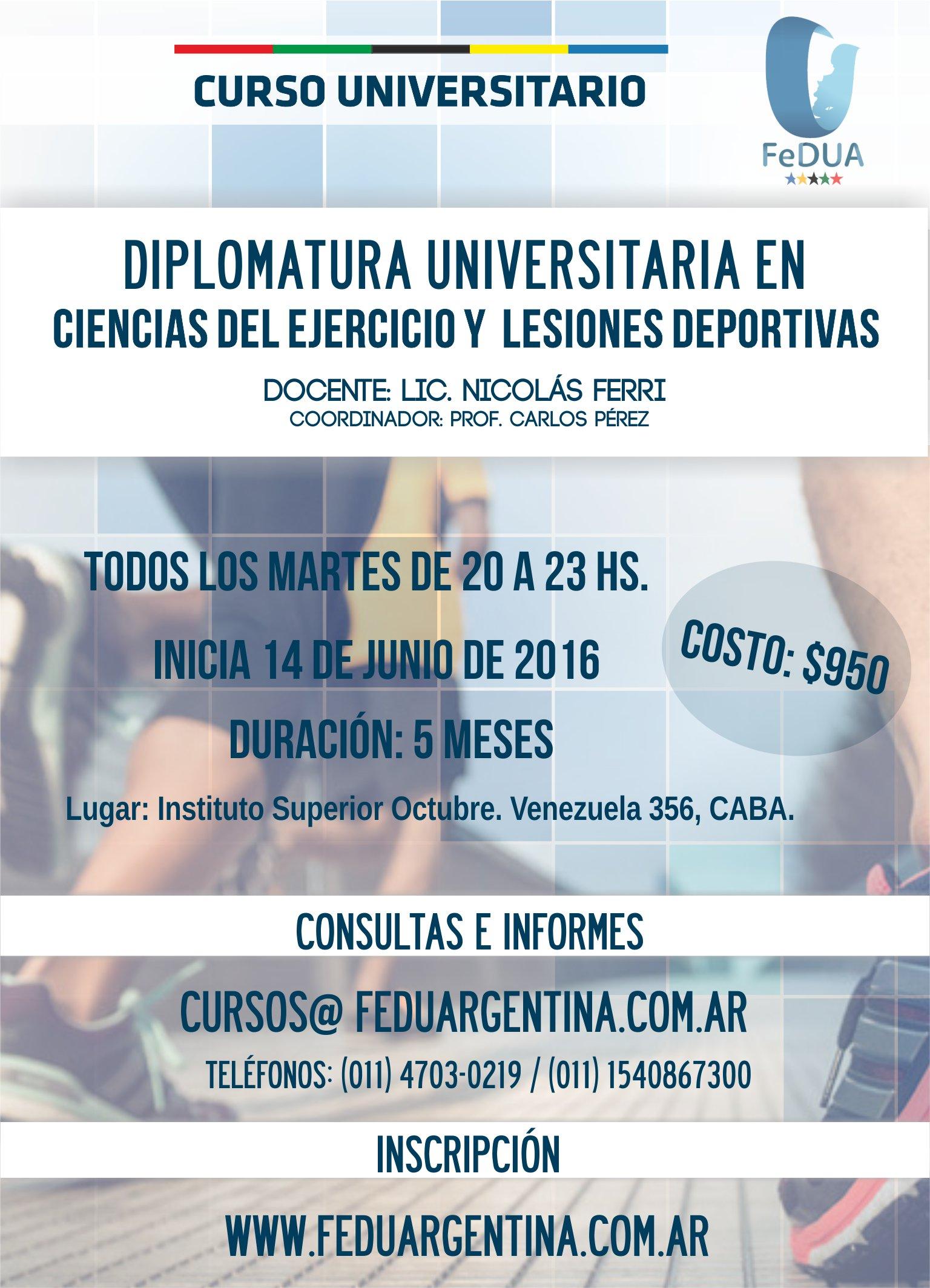 INSCRIPCIÓN: Diplomatura Universitaria en Ciencias del Ejercicio ...