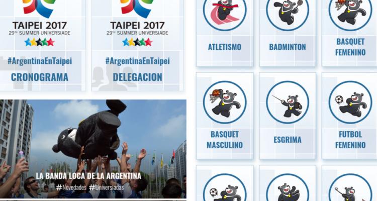 FeDUA lanzó su aplicación para las Universiadas en Taipei